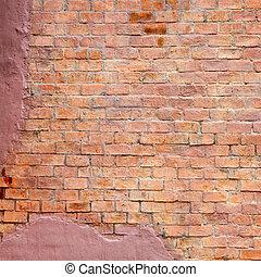 mattone, fondo, parete, struttura