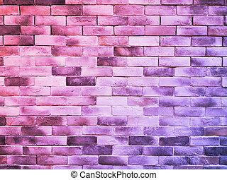 mattone, struttura, colorito, fondo, parete