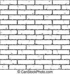 mattone, wall., texture., seamless