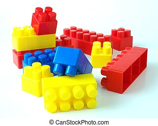 mattoni, giocattolo plastica, bricksplastic