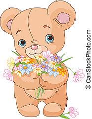 mazzolino, orso teddy, dare