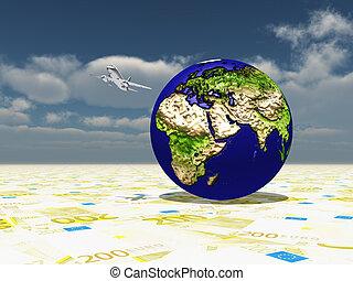 mdeast, fuoco, asia, pianeta, aereo, circonduzione, superficie, terra, europa, euro, africa