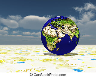 mdeast, fuoco, superficie, asia, africa, terra, europa, euro