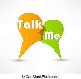 me, bolle, concetto, discorso, discorso