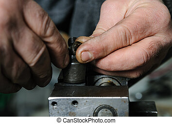 meccanica, riparare, diesel, injector.