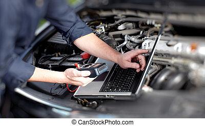 meccanico automobile, mani