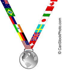 medaglia, argento