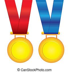 medaglie, vettore