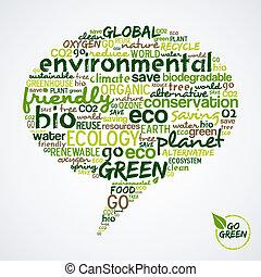 media, andare, bolla, sociale, nuvola, parole, verde, green.