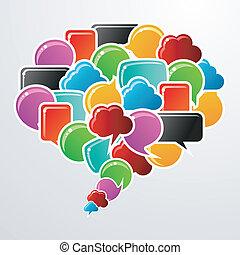 media, bolle, discorso, comunicazione, sociale