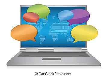 media, concetto, internet, sociale