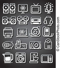 media, elettrodomestici, icone