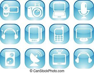 media, icone, web