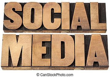 media, legno, tipo, sociale