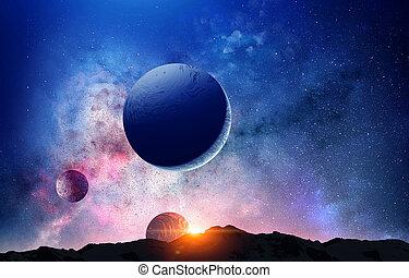 media mescolati, planet., plutone