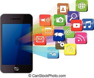 media, touchscreen, sociale