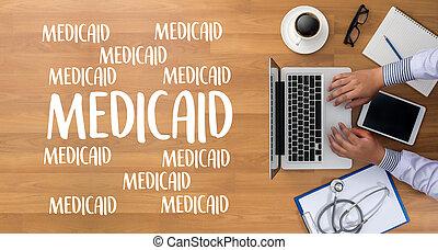 medicaid, medico, stethoscope., assicurazione