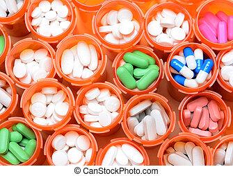 medicina, bottiglie prescrizione