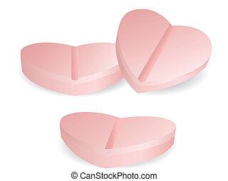 medicina, forma cuore