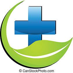 medicina, logotipo, simbolo, natura