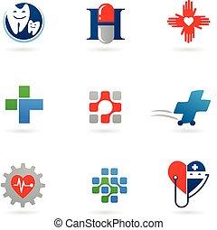 medicina, salute-cura, icone