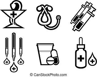 medicina, simboli