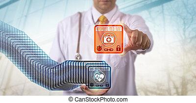 medico, accedere a, catena, la maggior parte, blocco, recente
