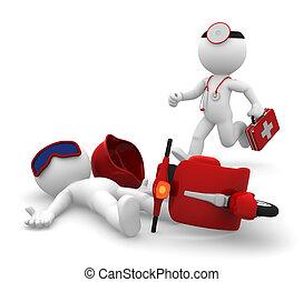 medico, isolare, emergenza, services.