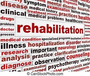 medico, messaggio, riabilitazione
