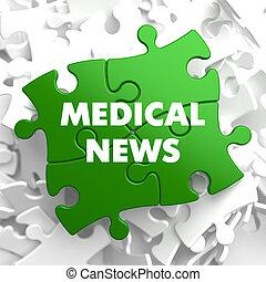 medico, notizie, puzzle., multicolor