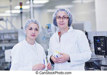 medico, produzione, fabbrica, interno