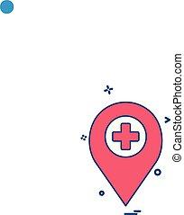 medico, vettore, disegno, icona