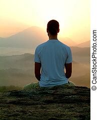meditazione, alba