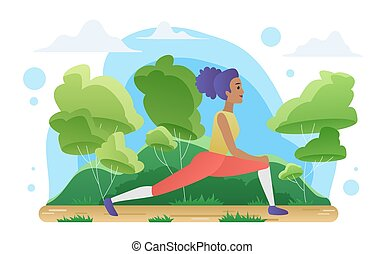 meditazione, donna sport, yoga, natura, esercizi