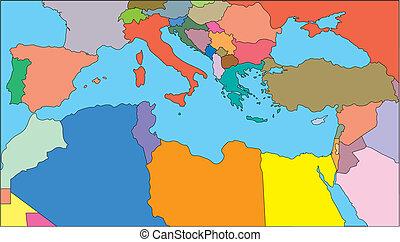 mediterraneo, regione, paesi
