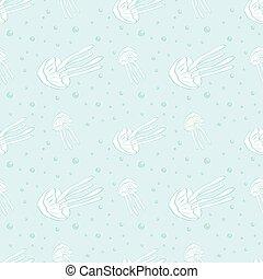 medusa, seamless, vettore, fondo., pattern., illustration.