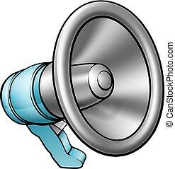 megafono, cartone animato