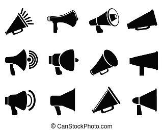 megafono, icone