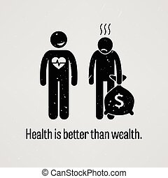meglio, salute, paragonato a, ricchezza