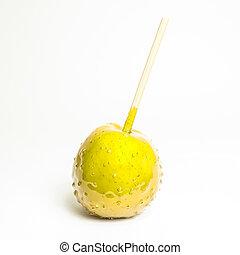 mela, giallo, toffee