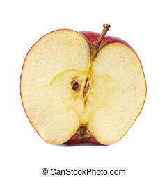 mela, rosso, mezzo