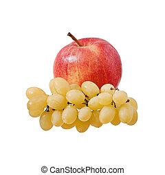 mela, uva