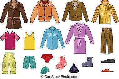 mens, collezione, abbigliamento
