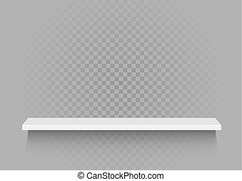 mensola, bianco, trasparente, fondo