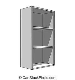 mensole, semplice, immagine, -, isolato, gabinetto, 3d
