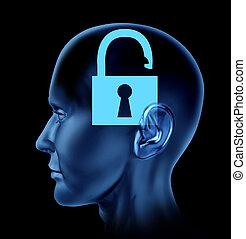 mente aperta, cervello umano