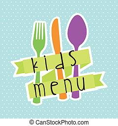 menu, bambini