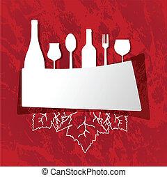 menu, coperchio, ristorante
