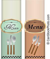 menu, elegante