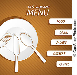 menu, fondo, ristorante